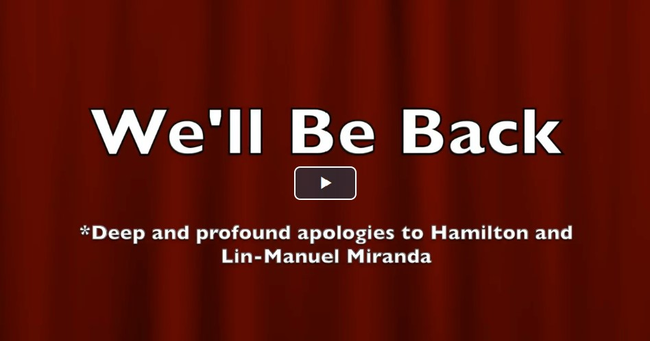 Play Video We'll Be Back